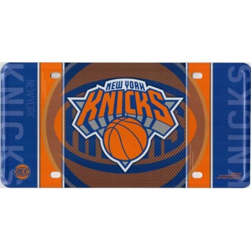 New York Knicks Metal License Plate