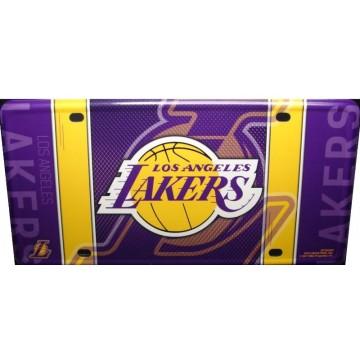 Los Angeles Lakers Metal License Plate