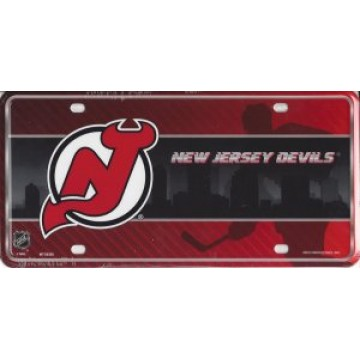 New Jersey Devils Metal License Plate