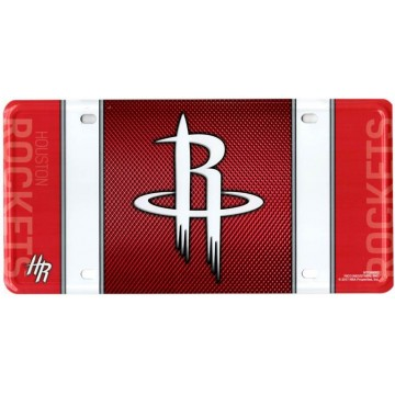 Houston Rockets Metal License Plate