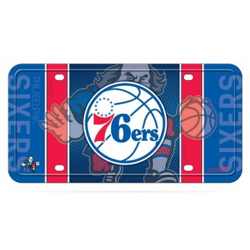 Philadelphia 76ers Metal License Plate