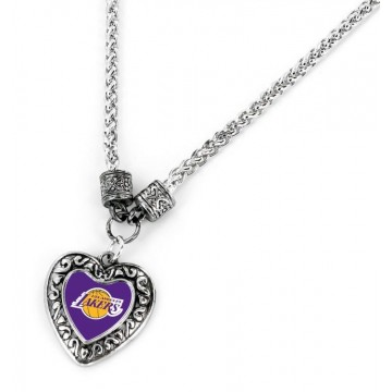Los Angeles Lakers Heart Pendant