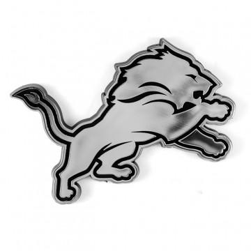 Detroit Lions Chrome Plastic Auto Emblem
