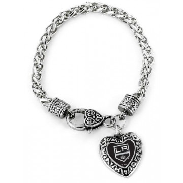 Los Angeles Kings Heart Bracelet