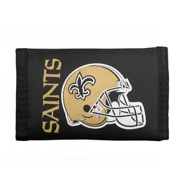 New Orleans Saints Nylon Trifold Wallet