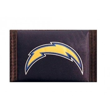 Los Angeles Chargers Nylon Trifold Wallet