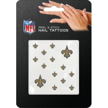 New Orleans Saints Peel And Stick Nail Tattoos