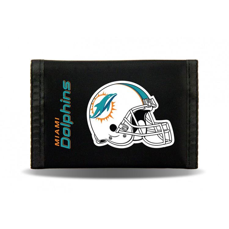 Miami Dolphins Nylon Trifold Wallet