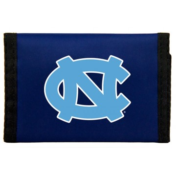 North Carolina Tar Heels Nylon Trifold Wallet