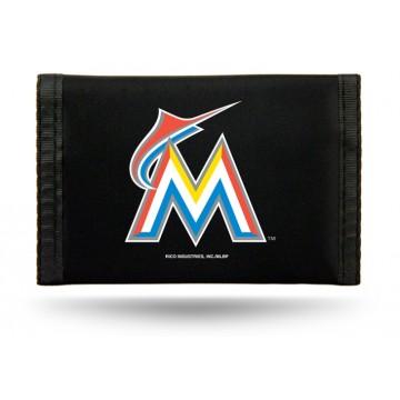 Miami Marlins Nylon Trifold Wallet