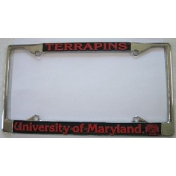 Maryland Terps Chrome License Plate Frame