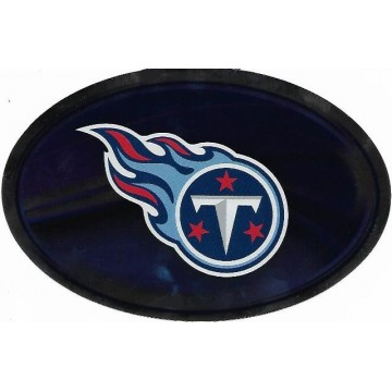 Tennessee Titans Chrome Die Cut Oval Decal