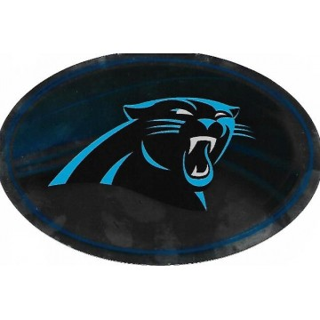 Carolina Panthers Chrome Die Cut Oval Decal