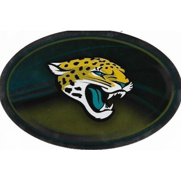 Jacksonville Jaguars Chrome Die Cut Oval Decal