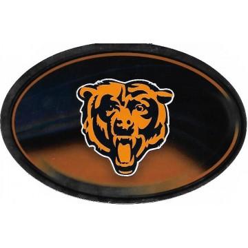 Chicago Bears Chrome Die Cut Oval Decal