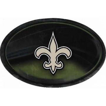 New Orleans Saints Chrome Die Cut Oval Decal