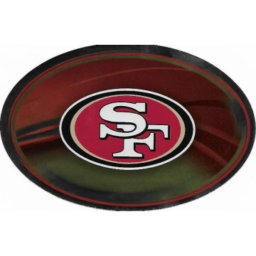 San Francisco 49ers Chrome Die Cut Oval Decal