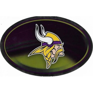 Minnesota Vikings Chrome Die Cut Oval Decal