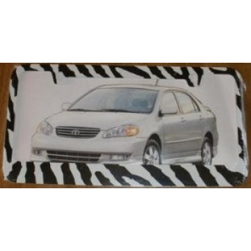 Zebra Fur License Plate Frame