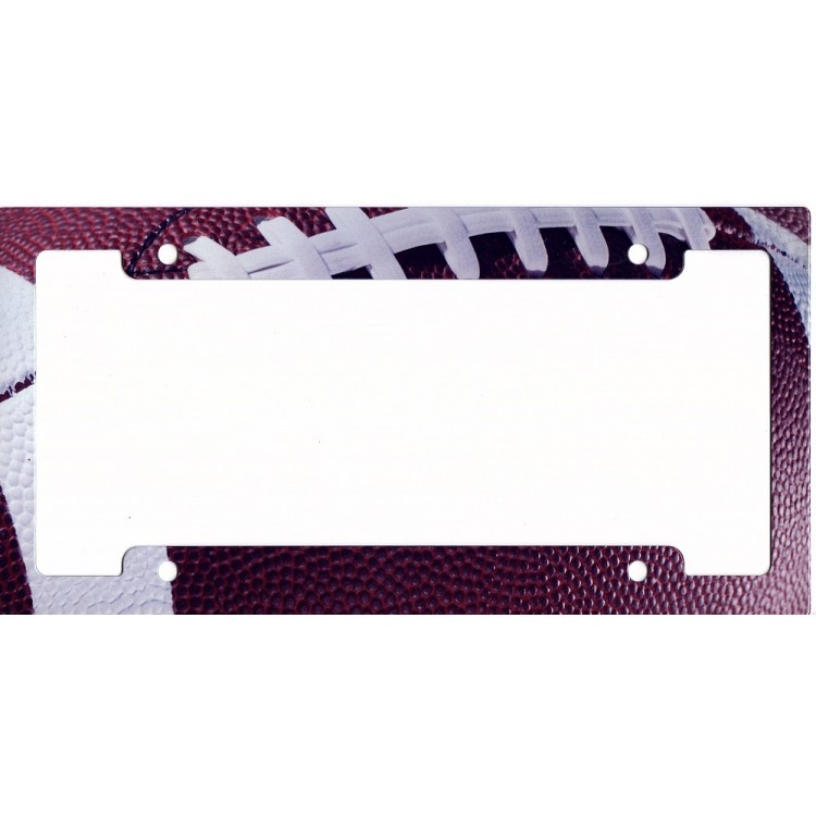 Football Metal License Plate Frame