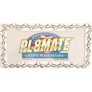 Barb Wire Plastic License Plate Frame
