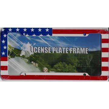 United States Flag Plastic License Plate Frame