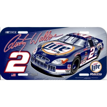 Rusty Wallace #2 Plastic License Plate