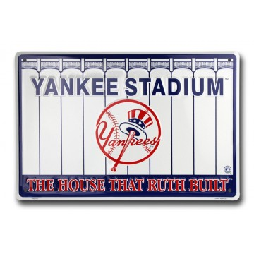 New York Yankee Stadium Metal Parking Sign