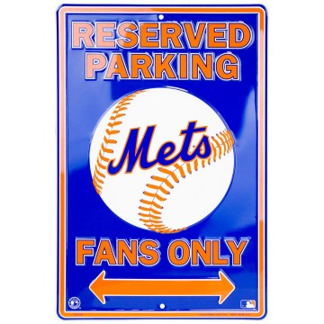 New York Mets Fan Metal Parking Sign