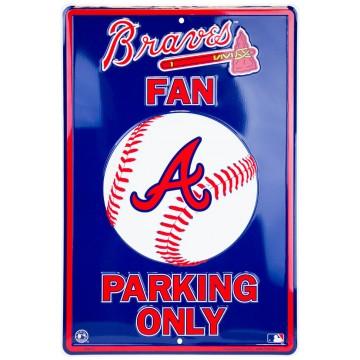 Atlanta Braves Fan Metal Parking Sign