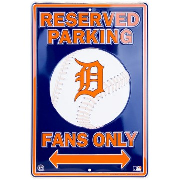 Detroit Tigers Fan Metal Parking Sign