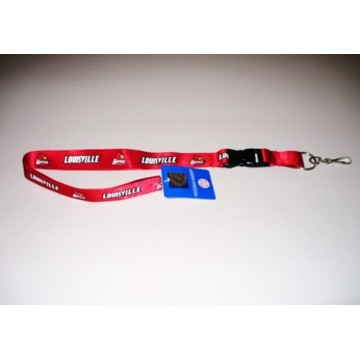 Louisville Cardinals Red Lanyard With Safety Fastener