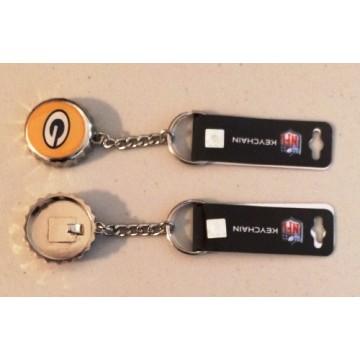 Green Bay Packers Bottle Cap Keychain