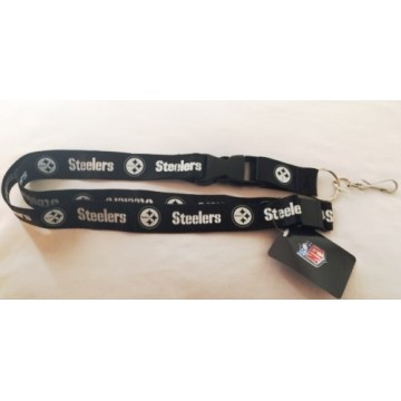 Pittsburgh Steelers Blackout Lanyard With Safety Latch
