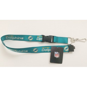 Miami Dolphins Aqua Lanyard With Safety Latch