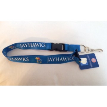 Kansas Jayhawks Blue Lanyard With Safety Latch