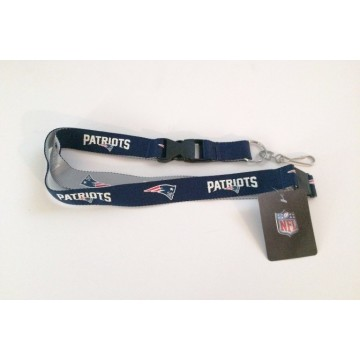 New England Patriots Two Tone Lanyard With Safety Latch