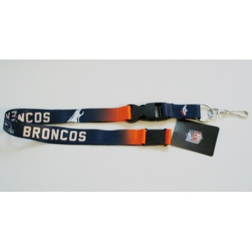 Denver Broncos Crossover Lanyard With Safety Latch