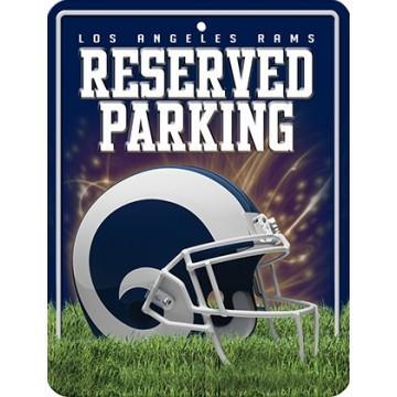 Los Angeles Rams Metal Parking Sign