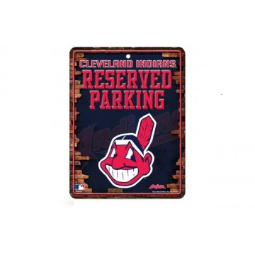 Cleveland Indians Metal Parking Sign