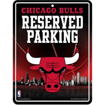 Chicago Bulls Metal Reserved Parking Sign
