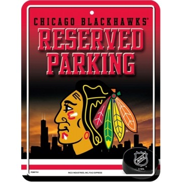 Chicago Blackhawks Metal Parking Sign