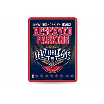 New Orleans Pelicans Metal Parking Sign