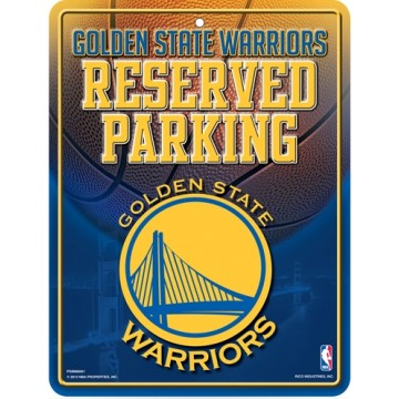 Golden State Warriors Metal Parking Sign