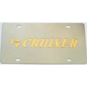 PT Cruiser Stainless Steel License Plate