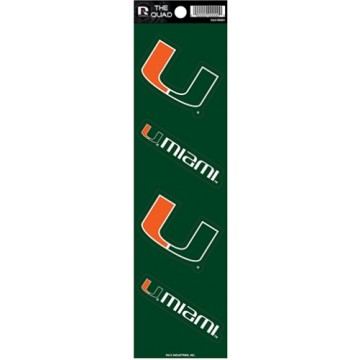 Miami Hurricanes Quad Decal Set
