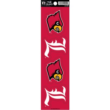 Louisville Cardinals Quad Decal Set