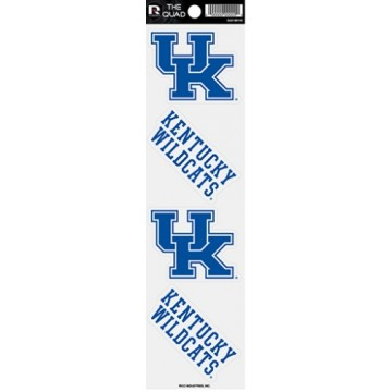 Kentucky Wildcats Quad Decal Set