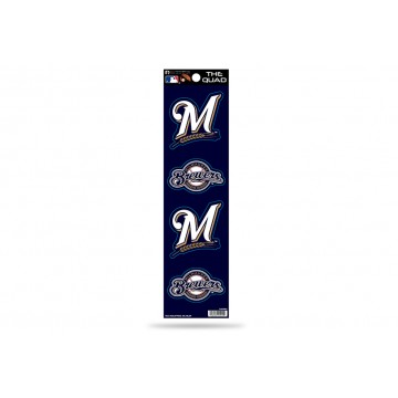 Milwaukee Brewers Quad Decal Set