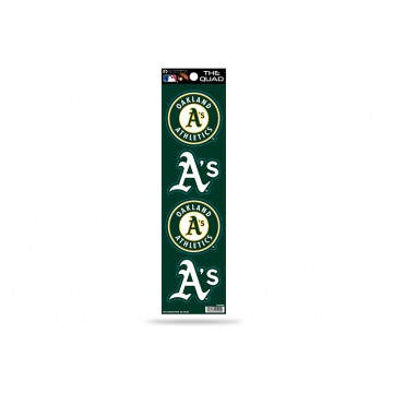 Oakland Athletics Quad Decal Set